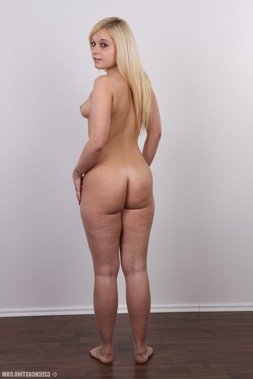 Diminutive blond doll way without clothes