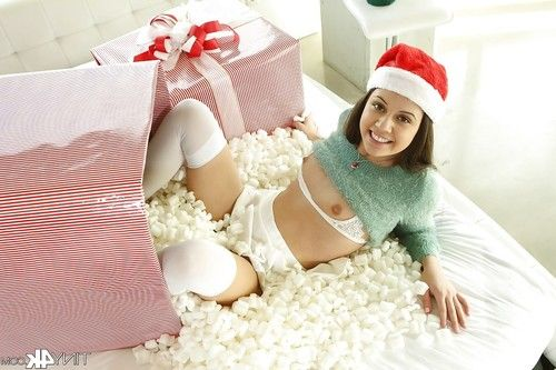 Youthful cutie Lucy Beauty widening labia lips in  at Christmas