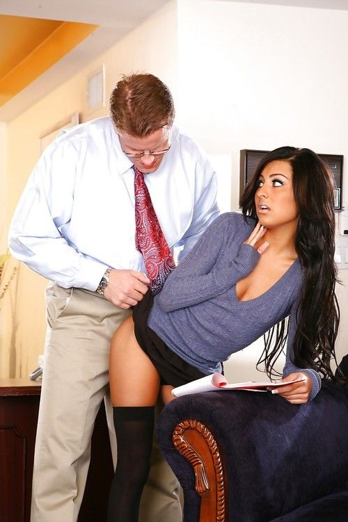 Latin babe coed Lexi Diamond acquires her hairless twat licked and penetrated