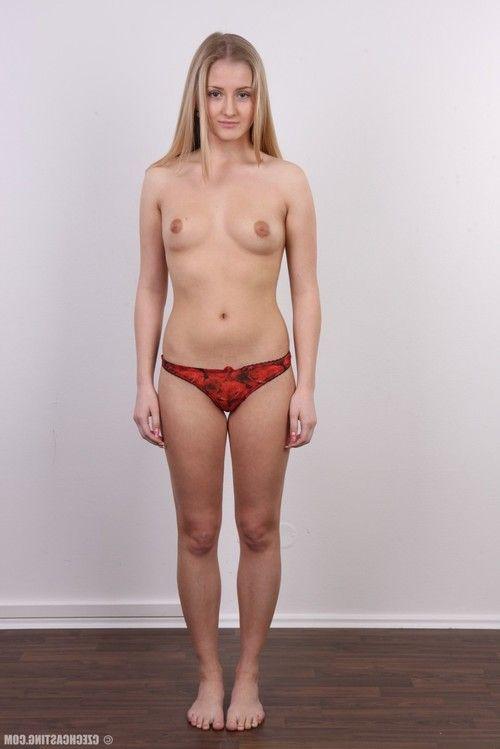 Stunning student standing nude