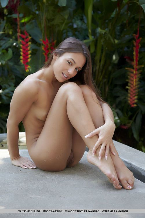 Appealing brown hair angel Dominika A removes clothes not including her fond colorful clothing