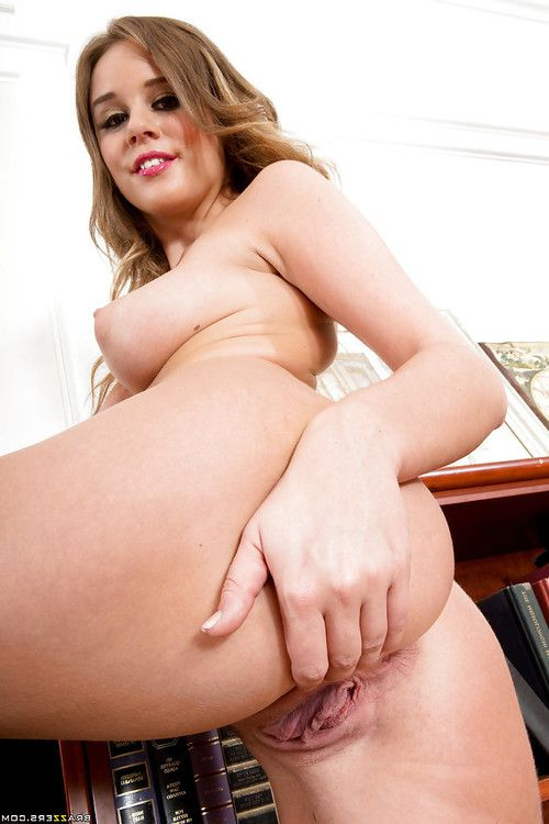 Coed doll with huge boobies Alexis Adams is amplifying her slight legs