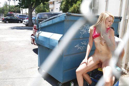 Fairy-haired juvenile pornstar Alexa Grace grand spunk flow on face in public place