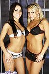 Lustful bree olson and mandy greater quantity obtain every other off