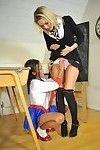 Woman-on-woman schoolgirls