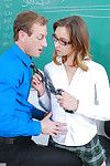 Aurora belle accepts penetrated by her professor in the classroom