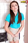 Shy juvenile kharlie stone widening her legs in porn world