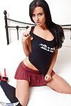 Sexually intrigued schoolgirl ashley diaz teasing with accomplished body