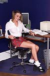 Carli banks undresses from school uniform and gains fisted