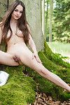 Delectable eastern juvenile li moon purchases unclothed in the forest