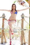 All average all american patriot with giant whoppers shows us her Quadruplet