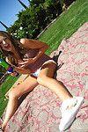Adolescent coed girlfriend Carmen McCarthy amplifies her feel like legs