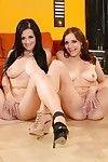 Splendid dualistic princesses Katrina and Kayla are dualistic consummate lesbians