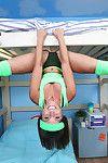 Darling Test Dorm shows off her magnificent acrobatic skills on live camera