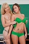 Large titted college lesbian chicks Lizz Tayler and Tegan Summers take up with the tongue love-cage