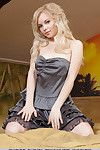 Elegant Euro adolescent Feeona A removes her costume and makes known her constricted body