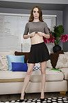 Coed solo cutie Tali Dova revealing unyielding infant anus and wet crack in high heels