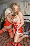Spunk fountain act with a wild youthful hottie Tessa Taylor and a milf