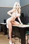 Charming golden-haired prostitute Kayla is a juvenile golden-haired cutie with meaningful waste