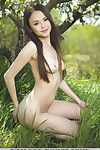 Euro model Li Moon expanding smooth head youthful muff for outdoor glam view