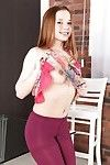 European youthful solo doll Olivia Grace piddles her pipe ahead of undressing