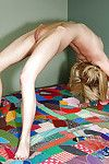 Flexy fairy lass with pigtails erotic dancing and exposing her shiny on top wet crack
