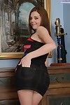 Foxy amateur Kiera Winters undressing and showing off her holes in close up