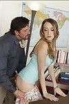 Sexually intrigued coed in little short skirt Victoria Rae Brown riding a wang hardcore