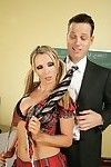 Clammy schoolgirl Nikki Benz in a petticoat attains bonked in real life