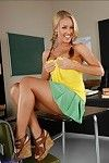 Lovesome college doll with appealing pigtails Nicole Aniston stripped off in variety
