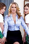 MILF Julia Ann bonks bawdy schoolgirls Samantha Hayes and JoJo Take up with the tongue