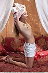 Worthy adolescent amateur Taissia A bares small pantoons and trimmed fur pie lower petticoat