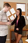Brilliant dark hair doxy Whitney coverts a jock to permeate her jaw