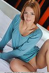 Pale redheaded amateur Carinela offering closeups of smooth on top cage of love