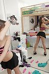 Wild coed Sara Luv baring her beautiful infant cum-hole and puckered chocolate hole