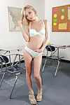 Meager coed doll with small legs and compact milk sacks Dakota Skye posing