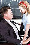 Thin infant schoolgirl Hotty Smalls giving and receiving dick sucking pleasures in type