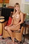 Smiley juvenile Aamy Spears undressing and fingering her pink bawdy cleft