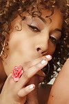Staggering black Misty Stone admires when her cum-hole is licked