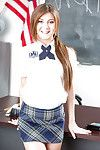 Amateur hottie Jojo Take up with the tongue unleashing giant common breasts from schoolgirl uniform
