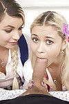 Adolescent schoolgirls Alex Adult baby and Marsha May take in off a weighty rod