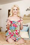 Adolescent solo queen Elsa Jean flashing upskirt shorts and firm amateur queen a-hole