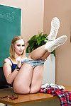 Adolescent fairy-haired Dakota James is dreaming about teacher\'s rod so moist