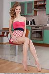 Amateur Euro angel Patritcy A undressing for exposed modeling gig in kitchen