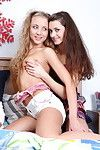 Clammy female-on-female foursome