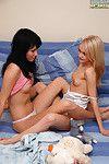 Appealing lesbo teenies