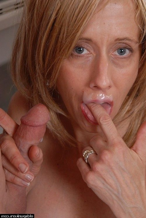 Experienced fairy-haired dame Charlotte eating ball cream off of pink tongue