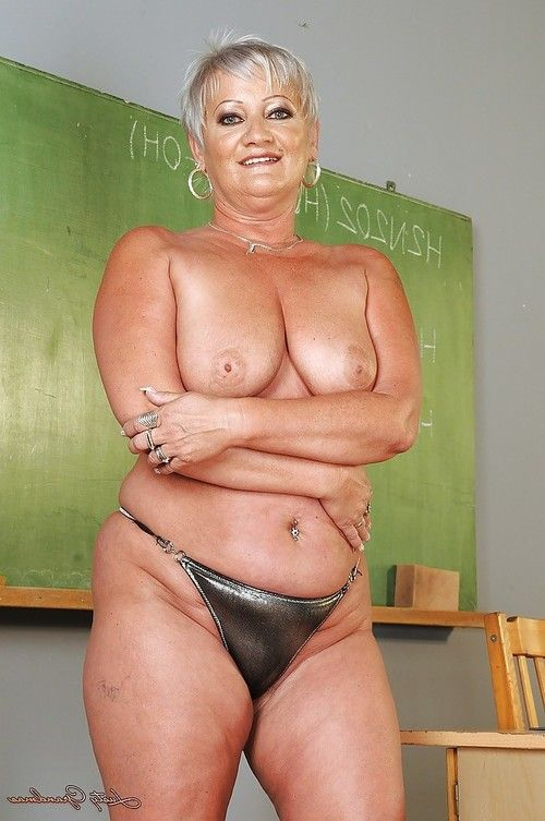 Short haired fatty ripened striptease off her suit and underclothes