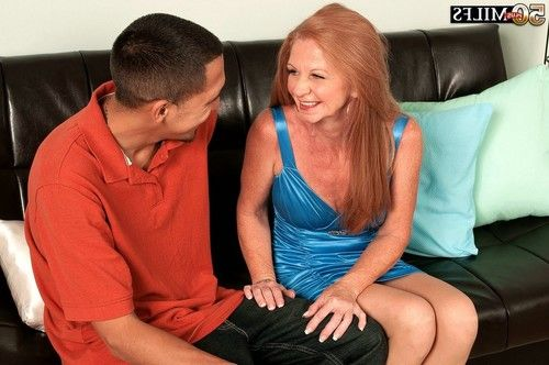 Seasoned misty gold riding and prowling juvenile phallus for jizz