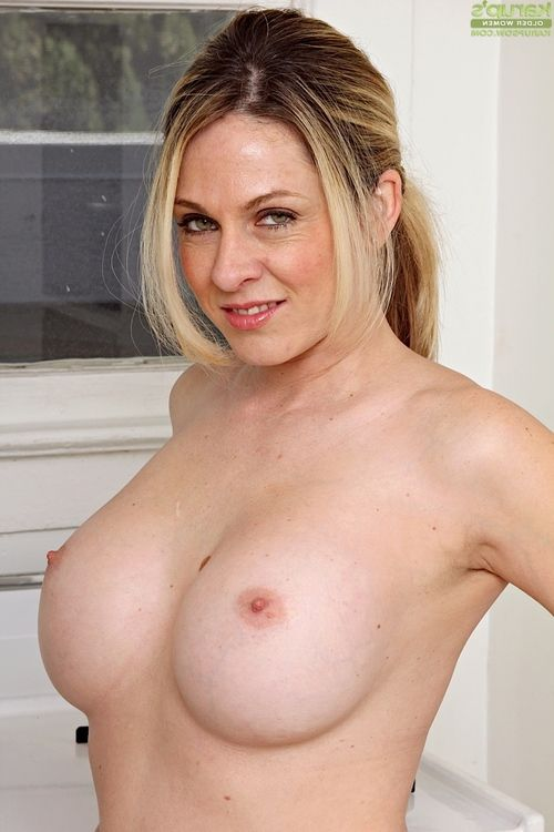 Fascinating ready fairy-haired Angela Attison showing off her huge mounds